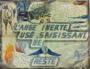 Alexandre Léger, Ange, 2014, crayon et gouache sur papier, 35 x 46 cm