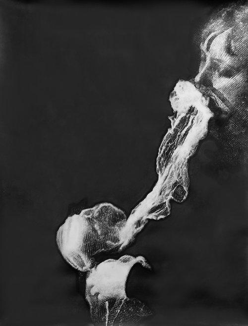 Eric Manigaud, Stanislawa P., 2012, mine de plomb et poudre de graphite sur papier, 170 x 133 cm © Grégory Copitet