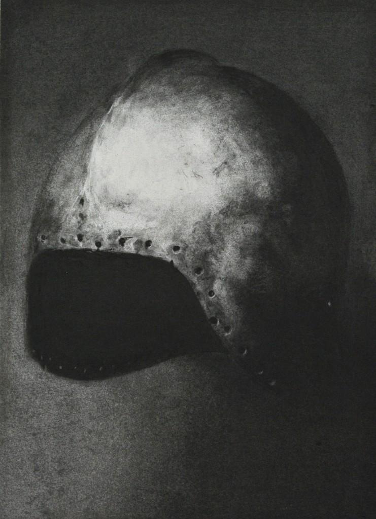 Timothée Schelstraete, Remember N.A. 1, 2017, fusain sur papier, 40 x 30 cm
