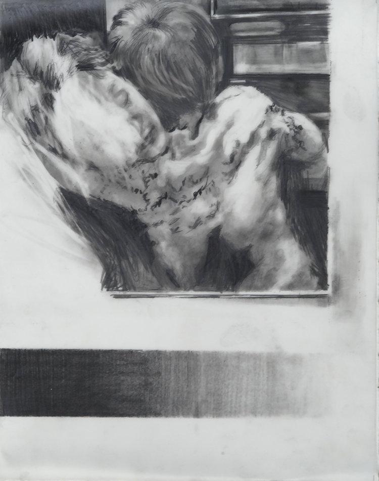 Sarah Jérôme, Cliché #3 (Les clichés), 2018, mine de graphite sur papier calque, 28 x 22 cm