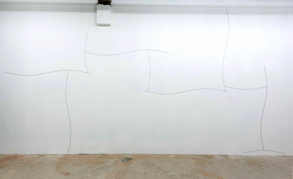 Pierre Labat, Thérèse, 2017, acier contraint, 350 x 700 cm