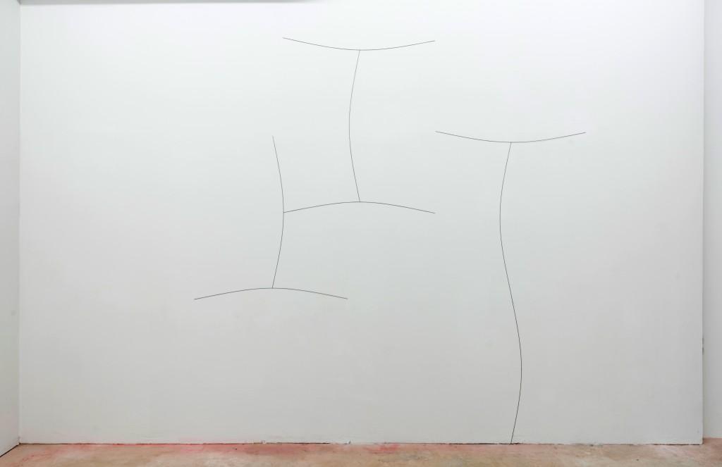 Pierre Labat, Marie, 2017, acier contraint, 250 x 250 cm