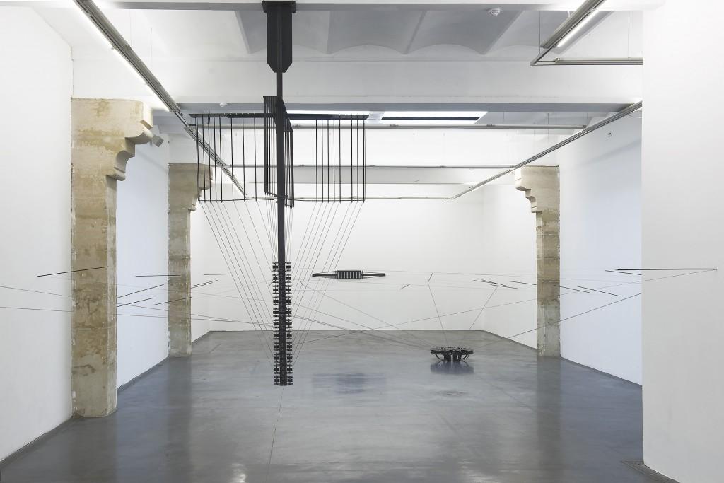 Jennifer Caubet, Coordonnées en projection III, vue d'exposition au FRAC Occitanie Montpellier, été 2018